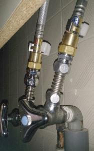 シングルレバー湯水混合栓交換修理