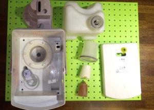 加湿器フィルターと内部がスケール(炭酸カルシウムやマグネシウム)でバリバリに固まった状態の対処方法