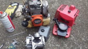 丸山製作所・ハスクバーナ 丸山製作所製の古い刈払機(草刈機)MB320の修理記録