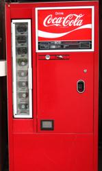 瓶のコカコーラ自販機 中古タイヤ市場 相模原店自販機コーナー