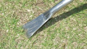 根切りを自作する作り方を公開!ステンレスで足踏みタイプの根切りを作ってみた