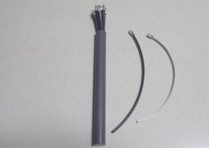 草刈機・刈払機用チタニウムナイロンコード差込み式3mmを電工用圧着ペンチで自作する方法