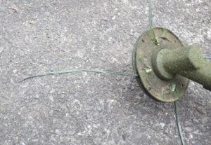草刈機・刈払機用チタニウムナイロンコード差込み式3mmを電工用圧着ペンチで自作する方法 使用感